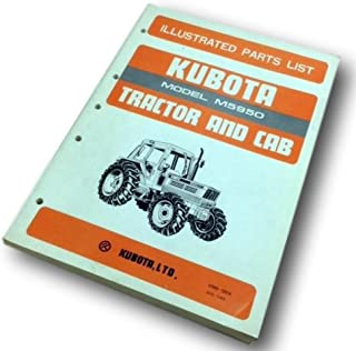 Kubota Model M5950 Illustrated Parts List Catalog Manual Tractor Ans Cab