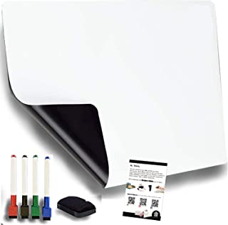 Bloom.Stores | Large Magnetic Dry Erase White Board Fridge Planner with 4 Magnetic Pens & Eraser | Home, Office, Kitchen, ...