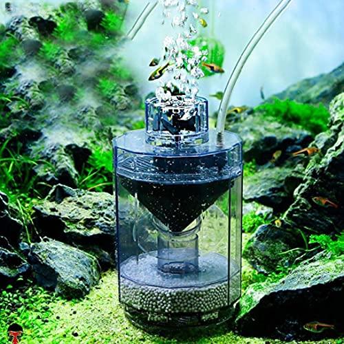 Psycker 3-in-1 Aquarium Filter Sauerstoff Pumpe Staubsauger, Komplett Automatisch Fish Tank Innenfilter mit Biologische Filterkugel, Aquarium zubehoer Aquarien sauber zu Halten