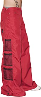 Ghast Unisex Cargo Drawstring Wideleg Mesh Pocket Rave Dance Pants