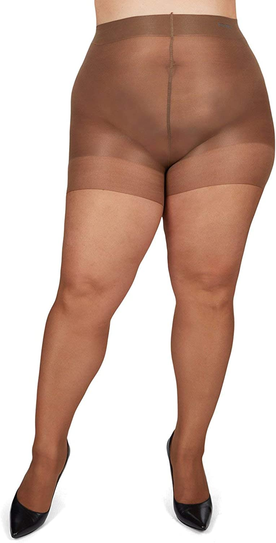 MeMoi Energizing Plus Size Curvy Control Top Pantyhose