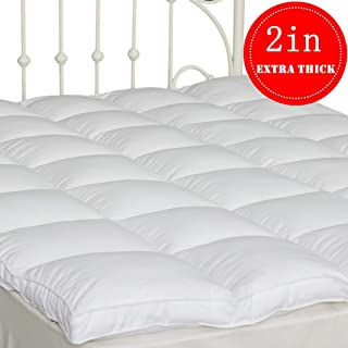 SUFUEE Mattress Topper Queen Size 2 inch Thick Down Alternative Quilted Mattress Cover Soft and Warm Mattress Pad for All Seasons
