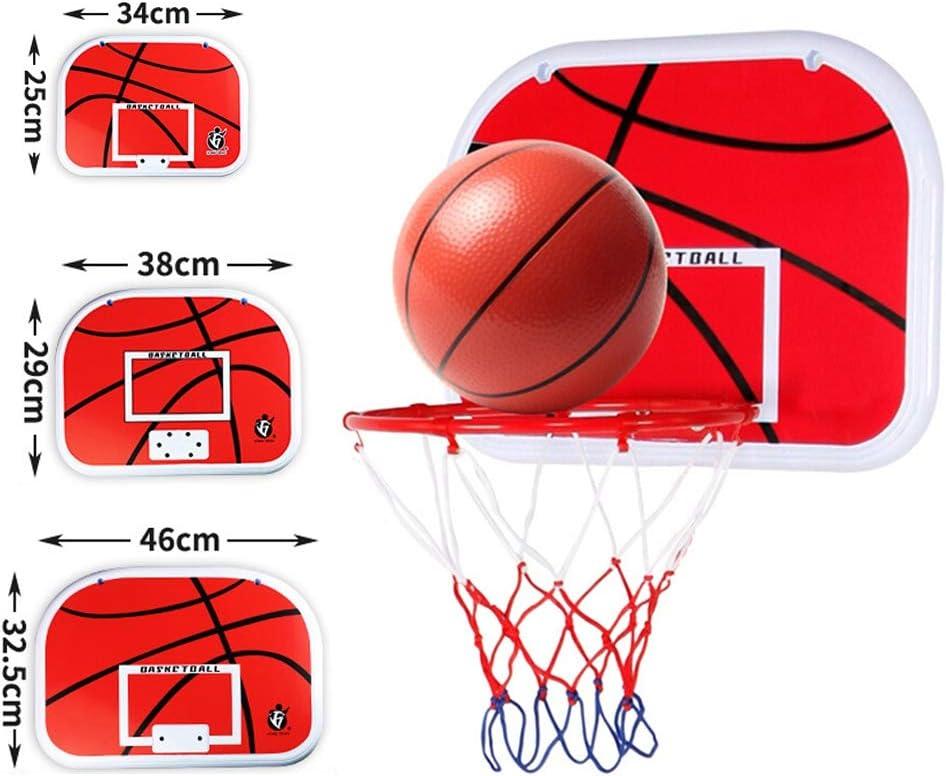 Canasta de Baloncesto sobre la Puerta de la Pared Juguetes de Baloncesto para ni/ños Adultos Forart Mini Canasta de Baloncesto con Pelota y Bomba