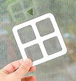 LOPIXUO Cortina magnética Parche de reparación de pantalla de ventana de cortina de puerta, pegatinas de parche de pantalla de seguridad para bebés, accesorios de reparación de reparación de pue