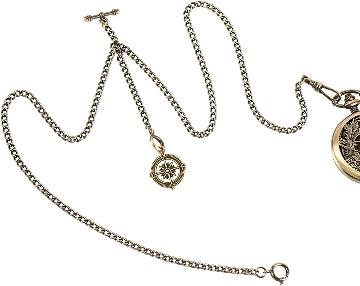 ManChDa Double Albert Chain Pocket Link Watch 3 In stock Hook Japan Maker New Curb