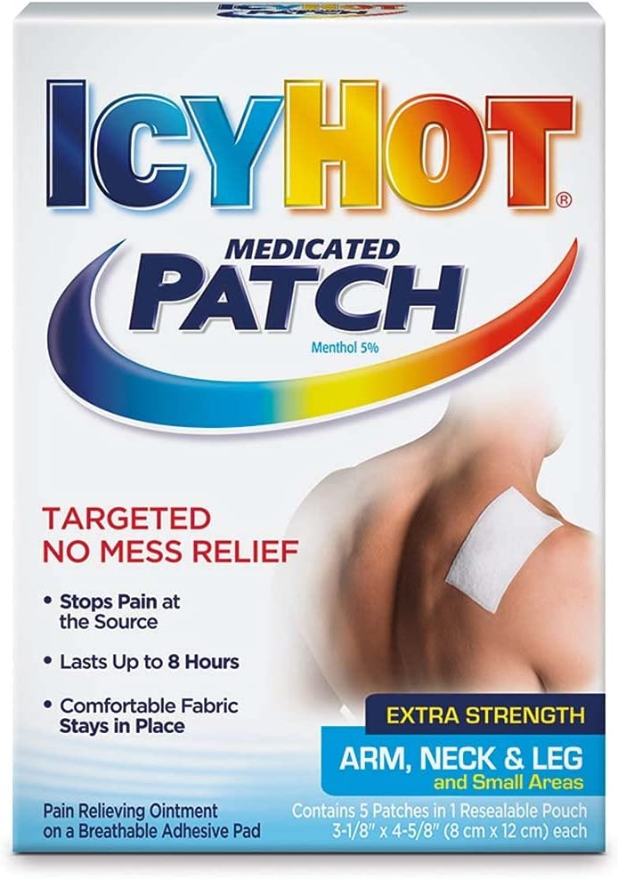 ICY HOT Medicated Patches Extra Small Max 58% Time sale OFF Neck Arm Strength Leg