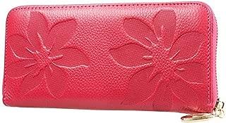 Black Friday Deals Cyber Monday Deals Week-Valentoria Women's Soft Purse Case Long Organizer Wallet Zippered Arround Clutch Card Holder Money Clip Handbag(Rose)