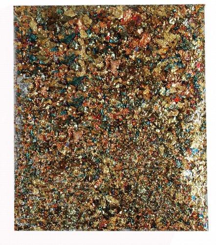 Kreul 99433 - Blattmetallflocken, metallic mix, 2 g für ca. 0,33 qm, zum Veredeln von Holz, Papier, Leinwand, Kartonage, Styropor, Kunststoff, Wachs, Keramik, Porzellan und vielem mehr