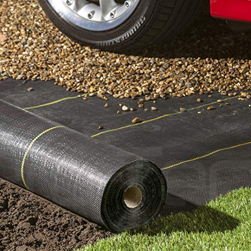 Pro-Tec 125gsm Gold-Line extra heavy duty 1m, 2m, 4m wide Weed control fabric landscape garden ground cover membrane