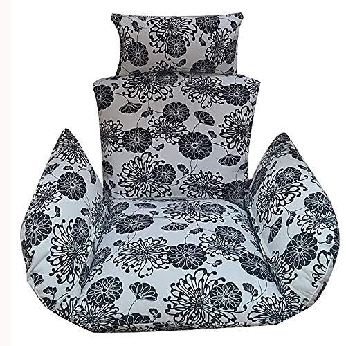 Coussin Chaise hamac Suspendu, Amovible Lavable épaissir Coussin siège pivotant extérieur Chaise Suspendue Dos avec Oreiller la Maison, extérieur