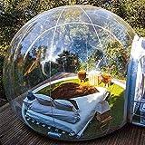 TIANQING Casa Transparente Inflable de la Tienda de la Burbuja, Tiendas de campaña Transparentes de la bóveda del Aire 360 °con Ventilador silencioso Adecuado para, Camping al Aire Libre,A,5 * 8M