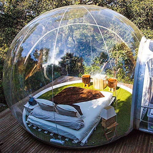 MyStelar Transparent Bubble Dome - Geodesic Dome House to View Stars - Transparent Inflatable Tent - Geodesic Dome Glamping - Original Transparent Camping Tent