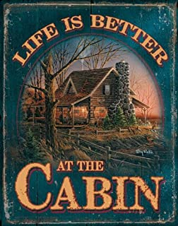 Best cabin tin signs Reviews