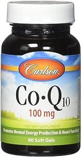 Carlson CoQ10 100 mg, 100% Natural All-Trans CoQ10, 90 Soft Gels