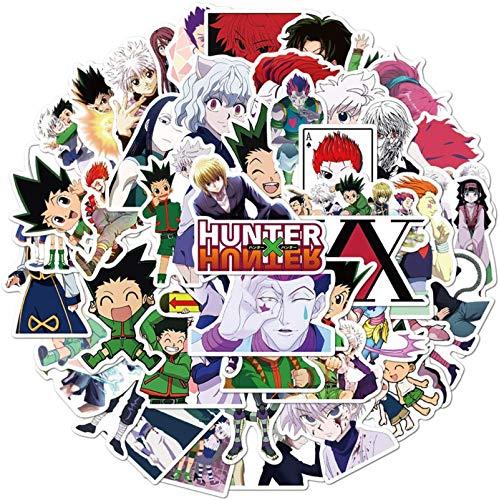50St. Hunter X Hunter Aufkleber, japanische Cartoon Anime Gon Freecss Whale Island Vinyl Aufkleber Aufkleber für Laptop, Wasserflasche, Auto, Skateboard, Gitarre, Helm