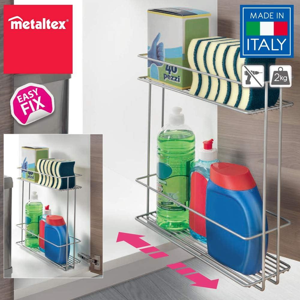 Lo mejor para los productos de limpieza: Organizador Deslizante de Limpieza Metaltex