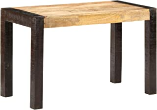Festnight Table à Dîner de Style Industriel Table de Cuisine 120x60x76 cm Bois de manguier Solide Brut