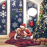 AmzKoi 160 Fensterbilder Selbstklebend, 6 Blätter Schneeflocken Fenstersticker Winter Deko Weihnachtsdeko, Fensterbilder Schneeflocken Wiederverwendbar - 7