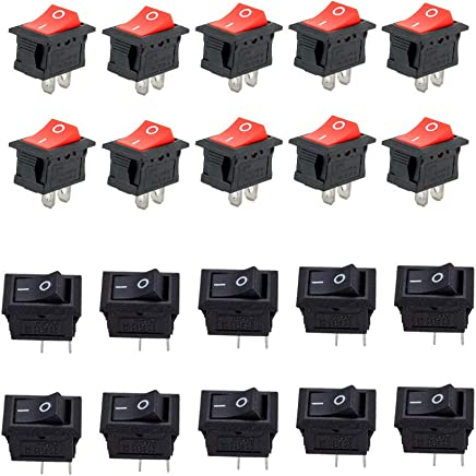 Sucre Auxiliary/® 2A 250VAC On-Off Round Rocker Button Switches for Car Boat Dashboard UK Seller Grey