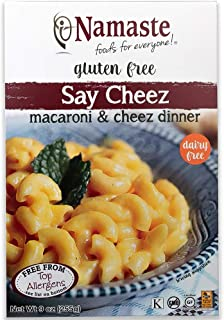Namaste Foods Gluten Free Say Cheez Non-Dairy Macaroni & Cheez Dinner, 9-Ounce  (Pack of 6) – Allergen Free