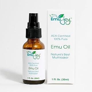 روغن خالص Emu توسط Emu Joy - خال کوبی و سوراخ کردن پوست بعد از مراقبت از رشد مو می سوزد زخم های پوستی درد کشیدگی علائم کشیدن چین و چروک اگزما ورم مفاصل درد بدون بو AEA دارای مجوز در ایالات متحده آمریکا
