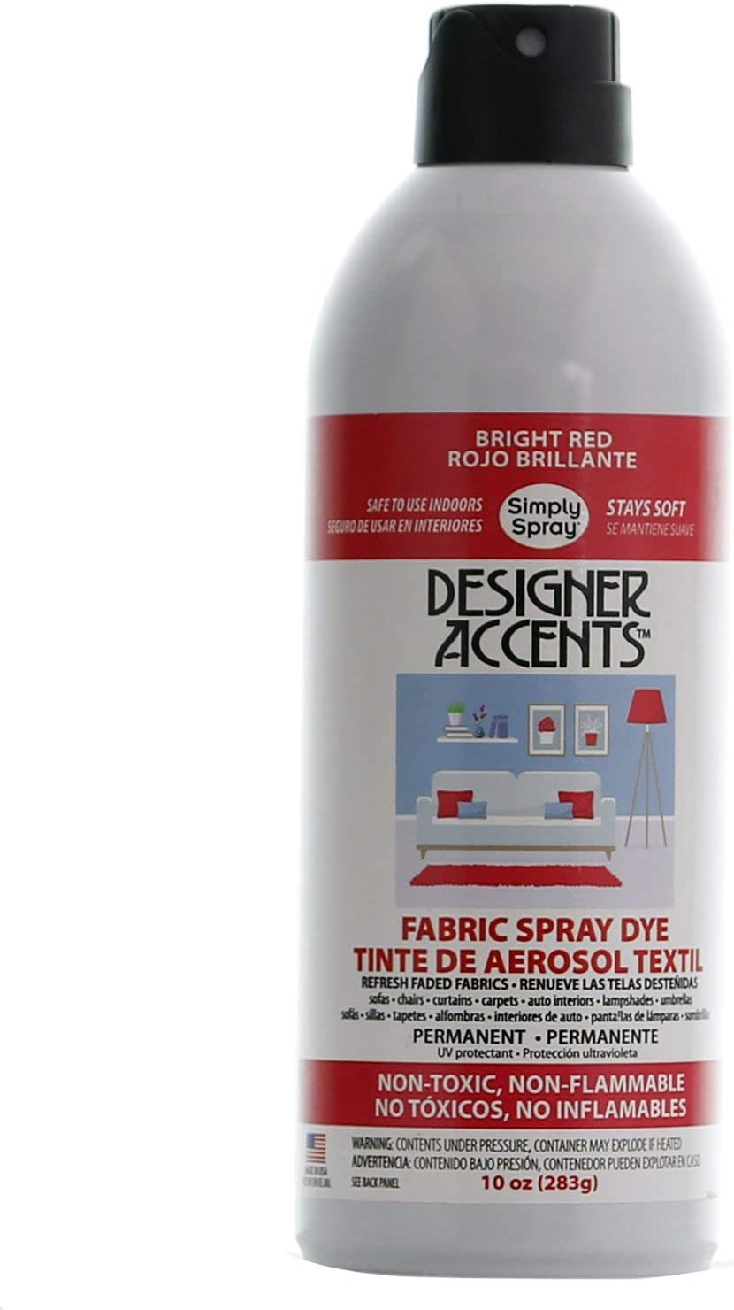 Selling Sale special price Designer Accents Fabric Paint Spray Simply Dye Red by -