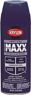 Krylon K09134000 COVERMAXX Spray Paint, Gloss Purple, 12 Ounce