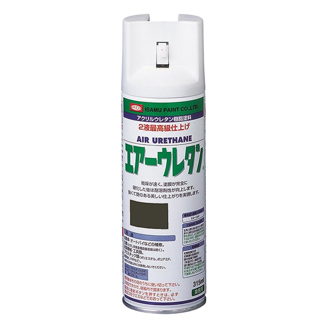 小麦若者再生イサム アクリルウレタン樹脂塗料 エアーウレタン ブラックM 315ml
