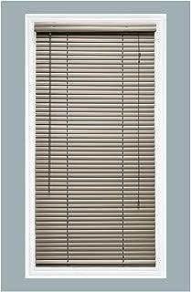 TailorView, Custom Made 1 Inch Aluminum Horizontal Venetian Window Mini Blind, Brushed Aluminum, Inside Mount, Inner Window Size: 20 1/2
