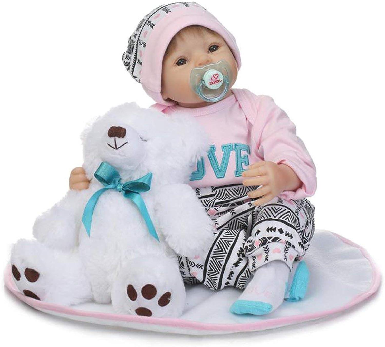 Jiobapiongxin 50cm Silikon Reborn Babypuppen schlafen Realistische Puppen begleitet