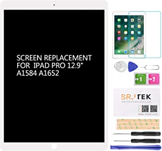 for iPad Pro 12.9 A1584 A1652 Screen Replacement LCD Display Touch Screen Digitizer + IC Connector PCB Flex Cable Assembly (2015) (White)