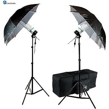 AGG1293 LimoStudio 1400W Output Photo Studio 40 Umbrella Double Light Lighting Kit With Exclusive Premium Carry Bag