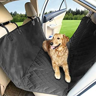 PETEMOO Coprisedile Auto per Cani Accessori Cane Auto Coprisedile Impermeabile Copertura per Animali Domestico Cane Sedile Posteriore Universale