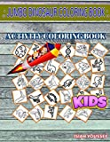 Jumbo Dinosaur Coloring Book: 30 Funny Psittacosaurus, Saltopus, Dna, Fossil, Triceratops, Parasaurolophus, Saltopus, Troodon For Preschool Picture Quiz Words Activity And Coloring Books