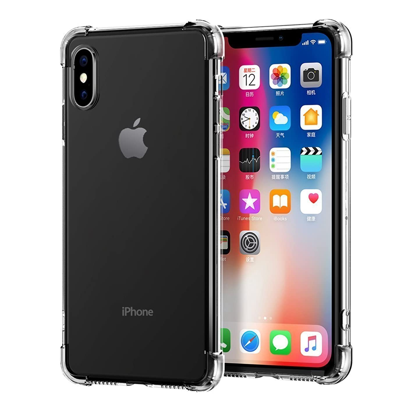 Cornmi Compatible Phone Case Replacement for iPhone X/10 Case Clear Bumper Cover Ultra Thin Slim TPU Transparent Shock Drop Proof