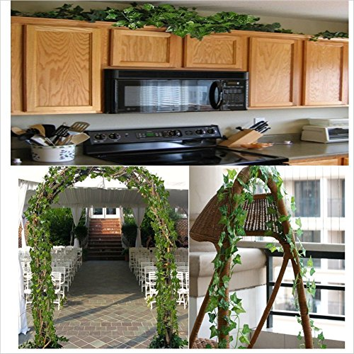 Atphfety Artificial Greenery Ivy Vine Fake Plants Garland Hanging for Home Kitchen Wedding Party Garden Wall Decor