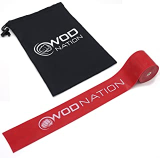 WOD Nation Muscle Floss Bands Recovery Band for Tack and Flossing Sore Muscles and Increasing Mobility - Stretch Band Includes Carrying Case