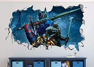 ملصق حائط مُحطم أوبتيموس برايم ميجاترون حطم جدار ملصق حائط