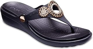 Crocs Women's Sanrah Diamante Wedge Flip