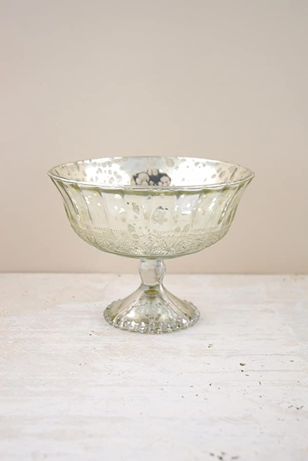 Richland Silver Mercury Glass Compote 7