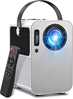 """Mini Projector, Portable Video Projector Full HD 1080P, 5500 Lux and 200"""" Display, Compatible with Fire TV Stick, PS4, HDM..."""