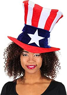 elope USA Uncle Sam Costume Plush Hat for Men and Women