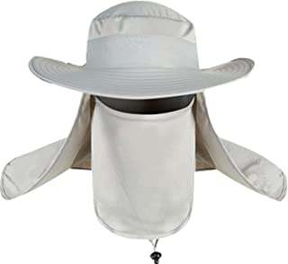 06ba54be Donsine Fishing Hat for Men/Women, with Removable Neck Face Flap Sun Hat,