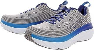 HOKA ONE ONE Mens Bondi 6 Blue/Frost Gray Running Shoe - 9.5