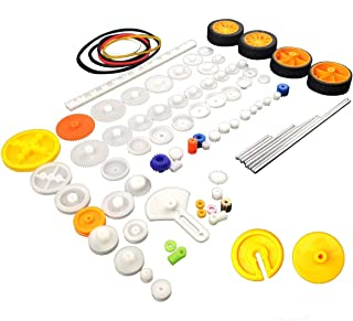 EUDAX 82 pcs Plastic Gear Package Kit DIY Gear Assortment accessories set for Toy Motor Car Robot Various Gear Axle Belt Bushings