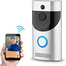 SONEW Video Doorbell - 720p HD Video,IR Night Vision,Two-Way Talk,Motion Detection, WiFi,App Control for iOS and Android