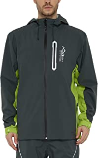 TKTOKY Rain Jackets Men Breathable Raincoats Waterproof Lightweight Hooded Windbreaker