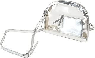 Capri Designs Half Moon Crossbody Transparent Purse w/Removable Strap