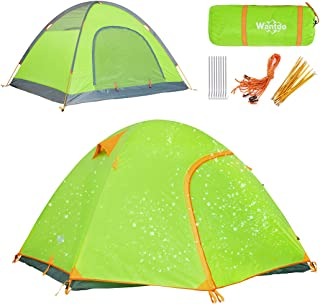 Wantdo Lightweight Backpacking Tent, 2-3 Person Waterproof Camping Tent 4 Season Mountaineering Tent Ultralight Aluminum Pole Tent for Hiking Fishing Outdoor Traveling