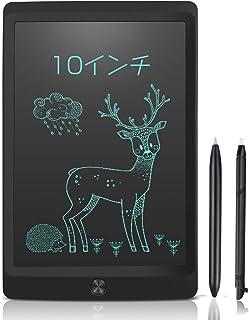 10インチ 電子パッド 電子メモ 消去ロック機能搭載 電子メモパッド NEWYES デジタルメモ 電池交換可能 LCD液晶パネル ワンタッチ消去 ペン付き 筆談ボード お絵かき 計算 単語帳 学習 打ち合わせ 伝言板 大人気ギフト 一年安心保証 (黒)